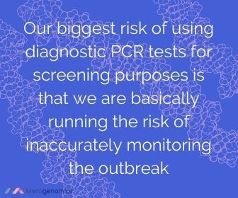 Image of Merogenomics article quote on COVID19 PCR test inappropriate use risks