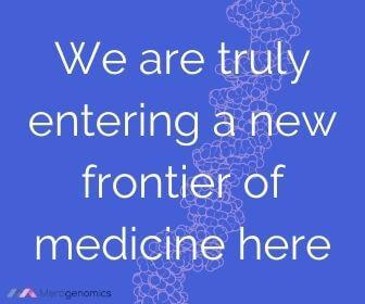 Image of Merogenomics article quote on medicine new frontier