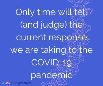 Image of Merogenomics article quote on current response to Covid