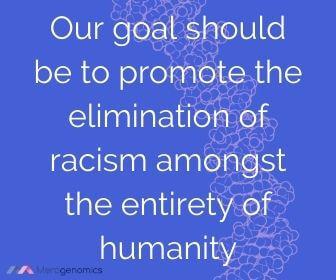Image of Merogenomics article quote on racism