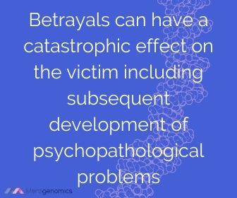 Image of Merogenomics article quote on Betrayal
