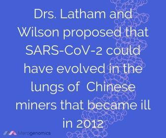 Image of Merogenomics article quote on SARS-CoV-2 origins