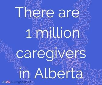 Image of Merogenomics article quote on how many caregivers in Alberta