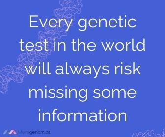 Image of Merogenomics article quote on DNA testing risks