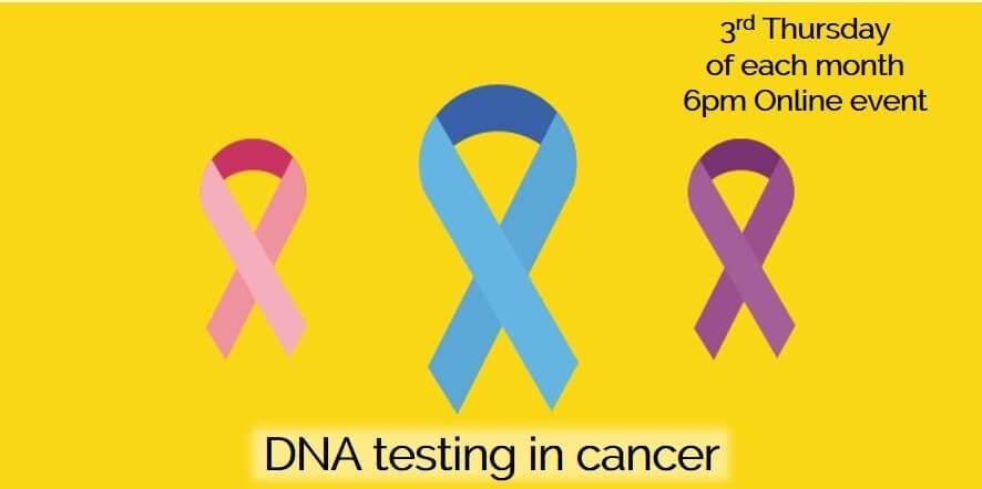 DNA testing in cancer Eventbrite webinar thumbnail