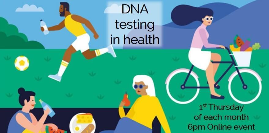 DNA testing in health Eventbrite webinar thumbnail